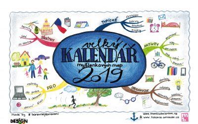 Velký kalendář myšlenkových map 2019