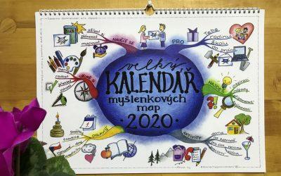 Velký kalendář myšlenkových map 2020